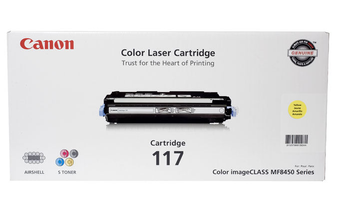 OEM Canon 2575B001AA, 117 Toner Cartridge For ImageCLASS MF8450 Yellow - 4K