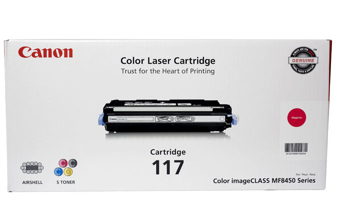 OEM Canon 2576B001AA, 117 Toner Cartridge For ImageCLASS MF8450 Magenta - 4K