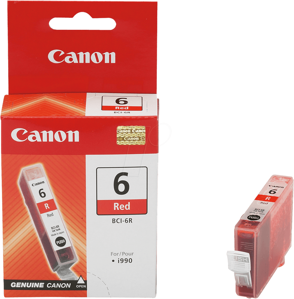 OEM Canon 8891A003, BCI-6R Ink Cartridge Red - 400 Pages