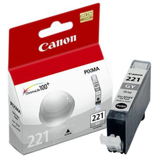 OEM Canon CLI-221GY, 2950B001 Ink Cartridge - Gray - 530 Pages