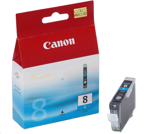 OEM Canon 0621B002, CLI8C Ink Cartridge Cyan