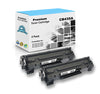 Premium Compatible HP CB435A, 35A Toner Cartridge - Black - 1.5K - (2 Pack)