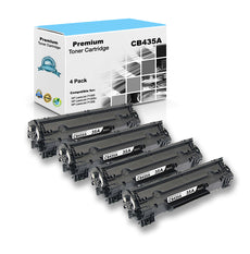 Compatible HP CB435A, 35A Toner Cartridge - Black - 1.5K - (4 Pack)