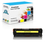 Compatible HP CC532A, 304A Toner Cartridge - Yellow - 2.8K