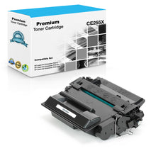 Compatible HP CE255X, 55X Toner Cartridge - Black - 12.5K