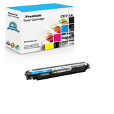 Compatible HP CE311A, 126A Toner Cartridge - Cyan - 1K