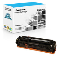 Compatible HP CE320A, 128A Toner Cartridge - Black - 2K