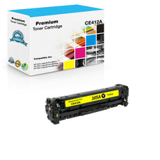 Compatible HP CE412A, 305A Toner Cartridge For Color LaserJet Pro M451, M475 Yellow - 2.6K