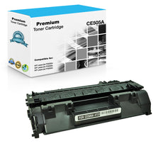 Compatible HP CE505A, 05A Toner Cartridge - Black - 2.3K