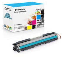 Compatible HP CF351A, 130A Toner Cartridge - Cyan - 1K
