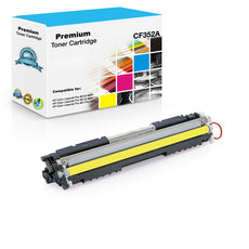 Compatible HP CF352A, 130A Toner Cartridge - Yellow - 1K