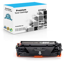 Compatible HP CF380A, 312A Toner Cartridge For Color LaserJet Pro M476 Black - 2.4K