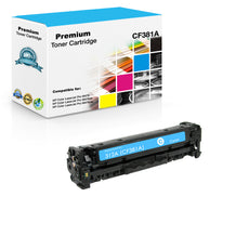 Compatible HP CF381A, 312A Toner Cartridge For Color LaserJet Pro M476 Cyan - 2.7K