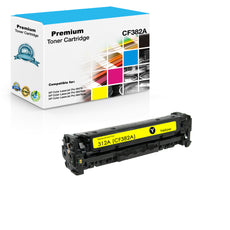 Compatible HP CF382A, 312A Toner Cartridge For Color LaserJet Pro M476 Yellow - 2.7K