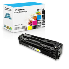 Compatible HP CF412A, 410A Toner Cartridge - Yellow - 2.3K
