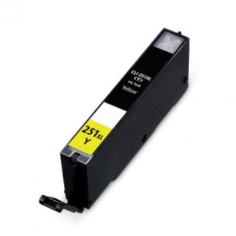Compatible Canon CLI-251XLY, 6451B001 Ink Cartridge - Yellow - 665 Pages