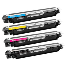 Compatible HP 126A Toner Cartridges for CE310A, CE311A, CE312A, CE313A - Value Pack
