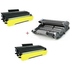 Compatible Brother TN580 X 2 Toner & DR520 X 1 Drum for MFC 8460, HL 5240 - Value Pack