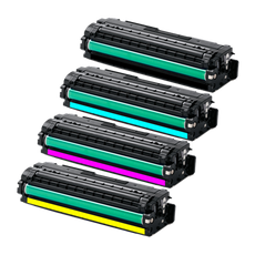 Compatible Samsung CLT-506 Toner Cartridges for Black, Cyan, Yellow, Magenta - Value Pack