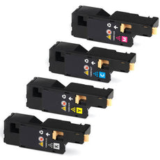 Compatible Xerox Phaser 6010, WorkCentre 6015 Toner Cartridges for Black, Cyan, Yellow, Magenta - Value Pack