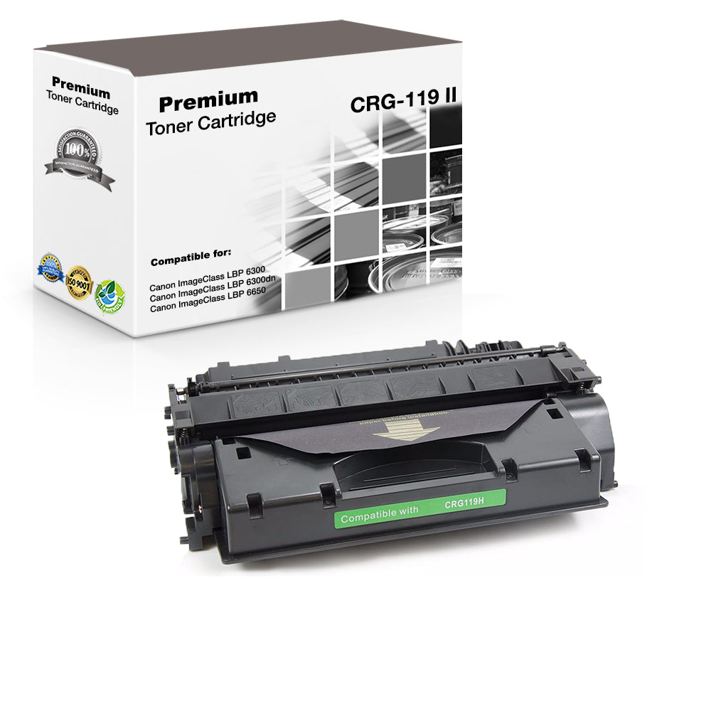Premium Compatible Canon 119II, CRG-119II, 3480B001 Toner Cartridge - Black - 6.4K