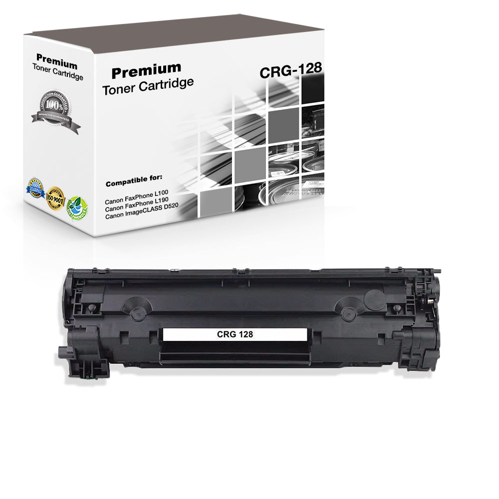 Compatible Canon 128, CRG-128, 3500B001 Toner Cartridge - Black - 2.1K