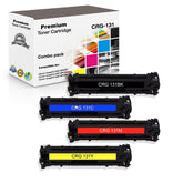 Compatible Canon 131, CRG131 Toner Cartridge 6269B001, 6270B001, 6271B001, 6273B001 - 4 Pack