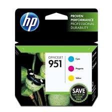 Original HP 951, CR314FN Ink Cartridge - Cyan, Magenta, Yellow - 3 / Pack - 2.1K