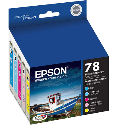 Epson T078920, 78 OEM Ink Cartridge For Stylus Photo R260 Multi Pack