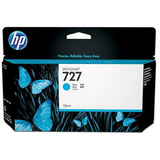 OEM HP 727, B3P19A DesignJet Ink Cartridge - Cyan - 130ml