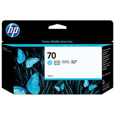 Original HP 70, C9390A Ink Cartridge -  Light Cyan - 130ml