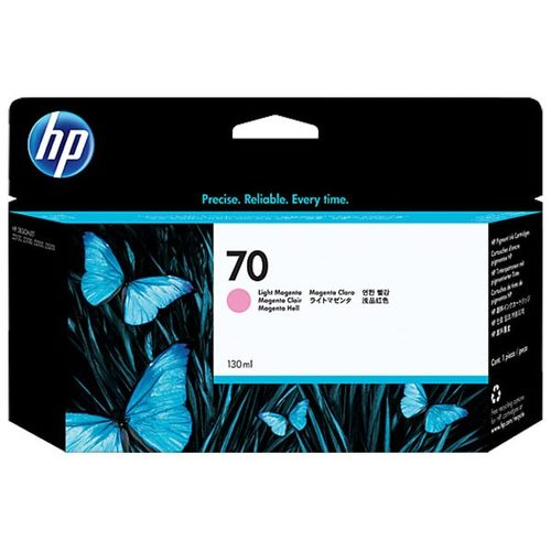 Original HP 70, C9455A DesignJet Ink Cartridge - Light Magenta - 130ml