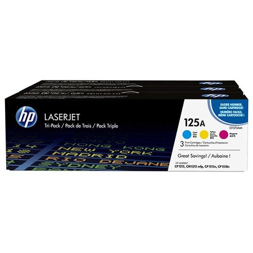 OEM HP CE259A, 125A Toner Cartridges Cyan/magenta/yellow 3-pack - 4.2K