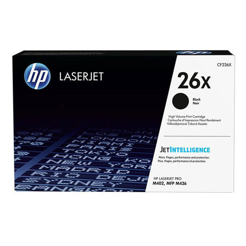 HP 26X, CF226X OEM Laser Toner Cartridge - Black - 9K