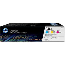 OEM HP 126A, CF341A Toner Cartridges Cyan, Magenta, Yellow - 3 Pack