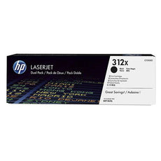 OEM HP CF380XD, 312X LaserJet Toner Cartridge - Black -2 Pack 8.8K