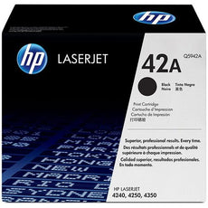OEM HP Q5942A, 42A LaserJet Toner Cartridge Black -10K