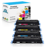 Combo Set HP 124A Toner Cartridges Compatible with Q6000A, Q6001A, Q6002A, Q6003A