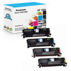 Compatible HP 122A Toner Cartridges for Q3960A, Q3961A, Q3962A, Q3963A - Value Pack