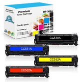 Compatible HP 304A Toner Cartridges CC530A, CC531A, CC532A, CC533A - Value Pack
