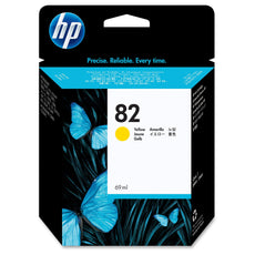 Original HP 82, C4913A DesignJet Ink Cartridge - Yellow - 69ml