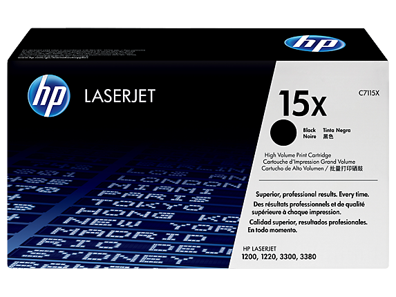 HP C7115X, 15X OEM Toner Cartridge For LaserJet 1200, 1200n Black - 3.5K
