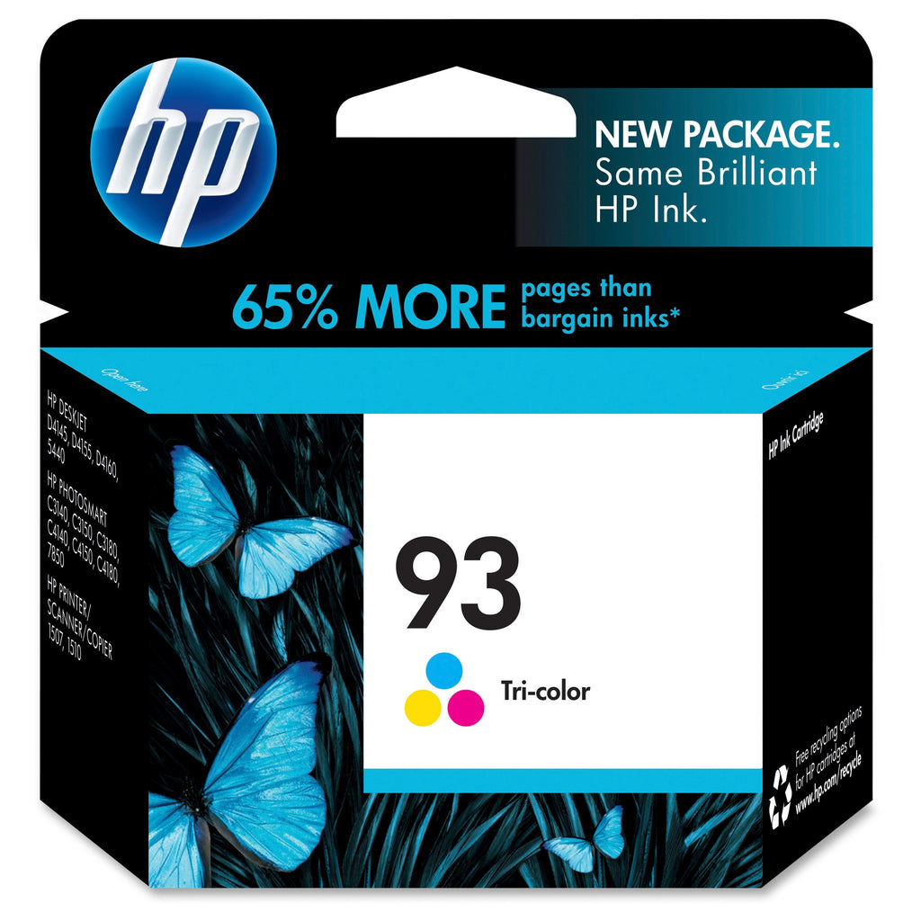 Original HP 93, C9361WN Ink Cartridge - Tri-Color - 220 Pages