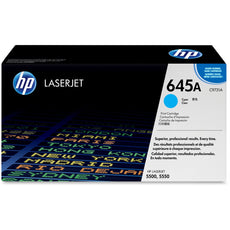 HP C9731A, 645A OEM Toner Cartridge For Color LaserJet 5500, 5550 Cyan - 12K