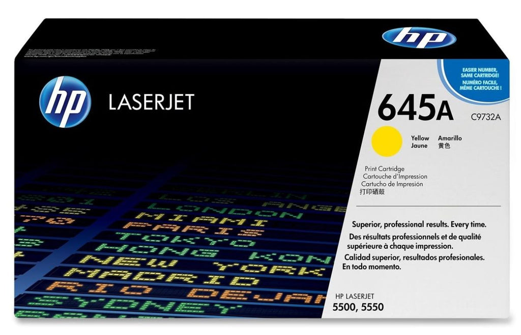 OEM HP C9732A, 645A Toner Cartridge For HP 5500, 5550 Yellow - 12K