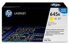 HP C9732A, 645A OEM Toner Cartridge For Color LaserJet 5500, 5550 Yellow - 12K