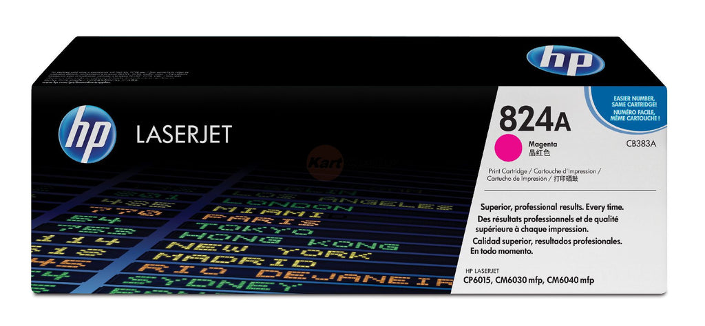 OEM HP CB383A, 824A Toner Cartridge - Magenta - 21K