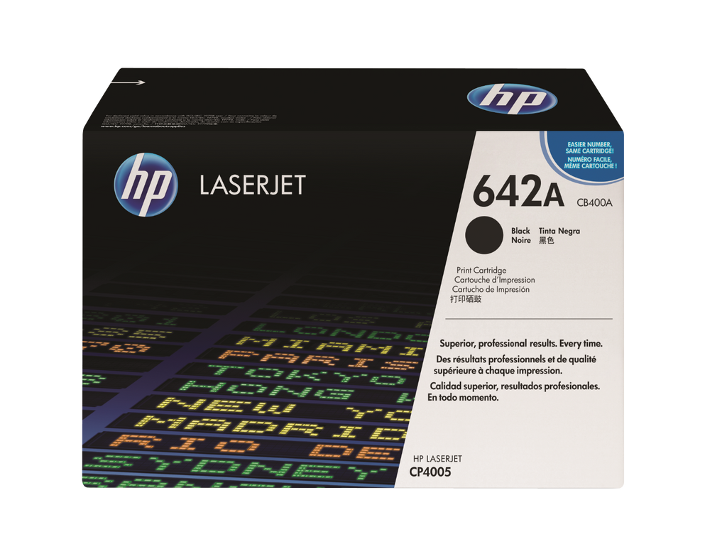 OEM HP CB400A, 642A Toner Cartridge For Color LaserJet CP4005n Black - 7.5K