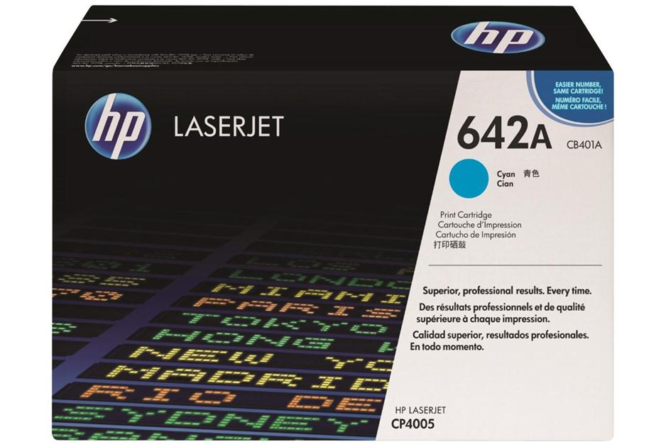 Original HP CB401A, 642A Laser Toner Cartridge - Cyan - 7.5K