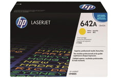 OEM HP CB402A, 642A Toner Cartridge For Color LaserJet CP4005n Yellow - 7.5K